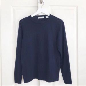 TSE navy blue silk cashmere sweater